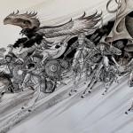 Aquarelle-peintures de la mongolie