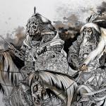 Aquarelle-peintures de la mongolie23