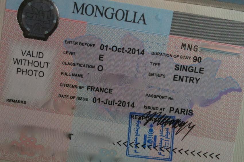 Visa mongolie 2016